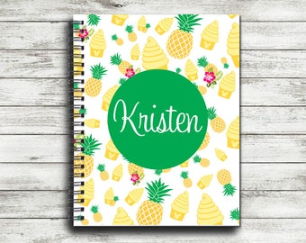 Monogrammed Dole Whip Pineapple Spiral Notebook | Personalized Spiral Notebook | Autograph Notebook