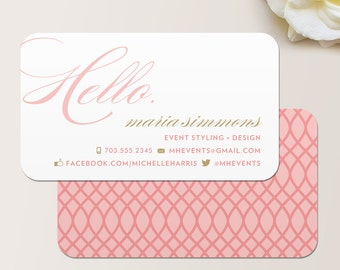 Hello Business Card / Calling Card / Mommy Card / Contact Card - Interior Designer, Calling Cards, Business Cards, Modern Business Cards