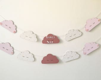 Personalised Sleepy Clouds Baby Bunting