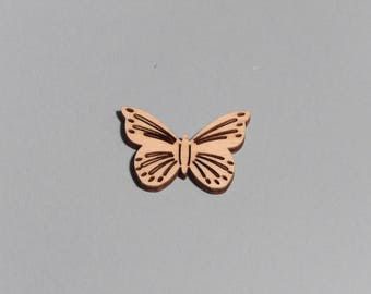 BUTTERFLY WITH DETAIL, blank craft shapes, various sizes, hobby