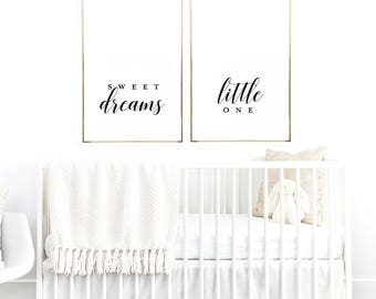 Sweet Dreams Little One - Nursery Print - Nursery Art - Nursery Decor - Sweet Dreams Print
