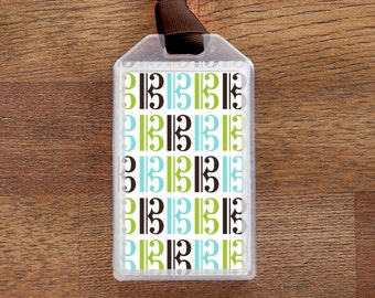 Alto Clef Musical Instrument Case ID Luggage Tag