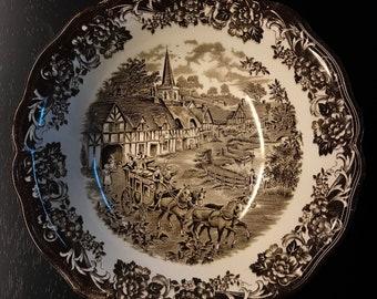 Vintage Brown Royal Stafordshire Large Bowl