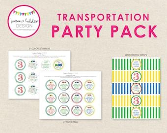 Transport zum Geburtstag, Einladung Transport, Transport Printables, Transport Geburtstag Dekorationen, Lauren Haddox Designs