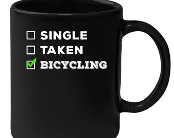 Bicycling - Single, Taken Bicycling 11 oz Black Coffee Mug