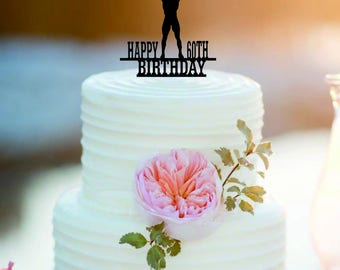 Weight lifting Bithday Cake Topper/ Customized  Bithday Cake Topper