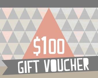 Gift Voucher: One Hundred Dollars (AUD)