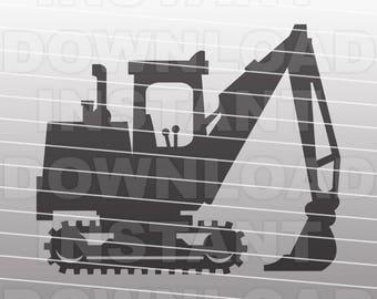 Excavator SVG File - Construction SVG File - Vector Clip art for Commercial & Personal Use Cricut Cut File, Silhouette Cameo, Vinyl Cut
