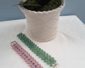 Spring Flowers Beaded Bracelet