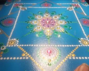 Dot art mandala painting