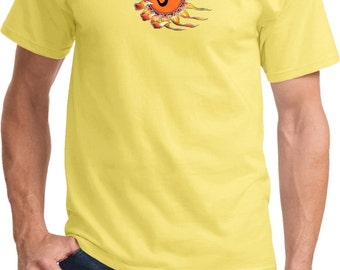 Yoga Clothing For You Mens Ohm Sun Tee Shirt = PC61-OMSUN
