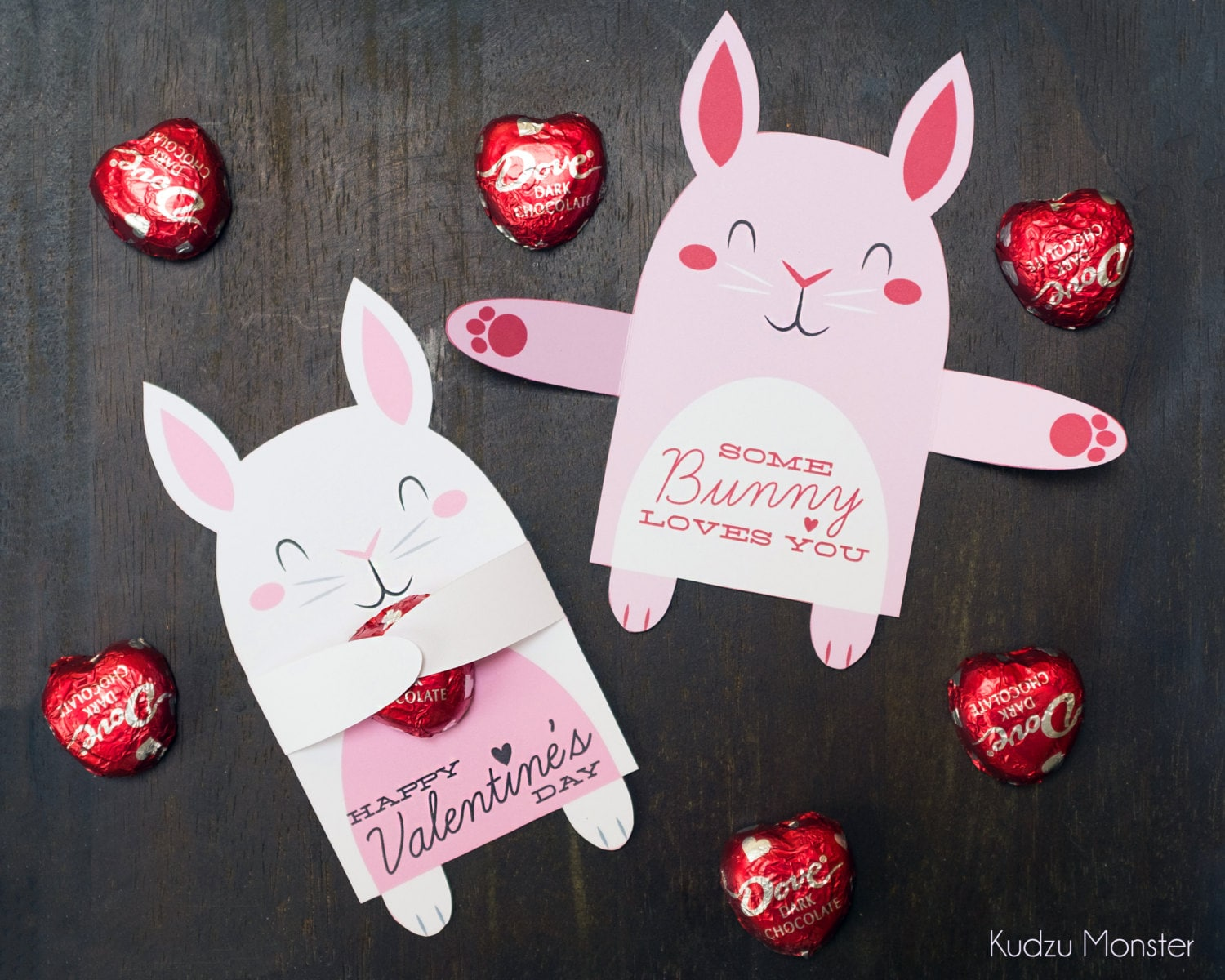 Woodland Bunny Rabbit Classroom Candy Holder valentines cute