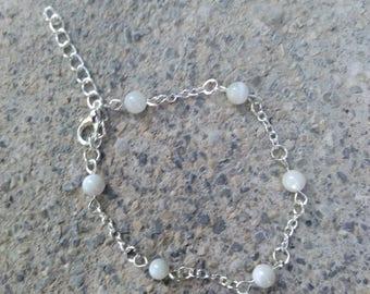 "Natural Pearl, braceletmariage, Bohemian bracelet, stainless steel beads bracelet."" Energy"""