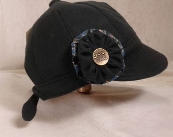 Mdnight Blue Rosette Hat