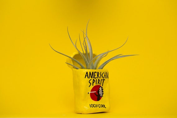 YELLOW AMERICAN SPIRIT / cigarette planter