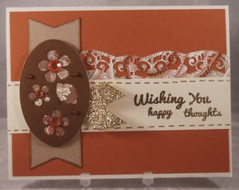 Happy Thoughts Blank Greeting Card