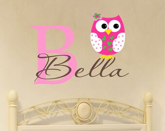 Woodland Animals, Owl Wall Decal, Nursery Name Sign, Vinyl Stickers, Wall Decals Nursery, Owl Deor, Personcalized Baby, Monogram Decal, Art