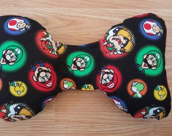 Mario Infant Head Support - Torticollis - Positional Plagiocephaly - Elephant Ear Pillow - Car Seat Head Support - Unique Baby Shower Gift
