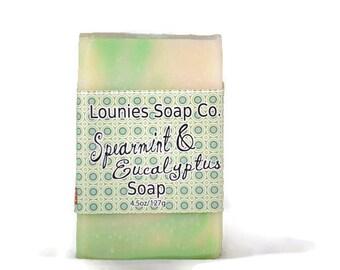 Spearmint & Eucalyptus Soap | Scented Soap | Colorful Soap | Handmade Soap | Soap Gift | Handmade Gift Idea | Wholesale | Bridesmaid gift
