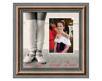 Ballet, Dancer Gifts for Teen Girls or Women, Personalized Dance Picture Frame 10X10 9721