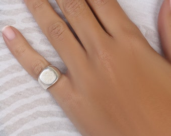 Special Dates Signet Ring/ Custom Made Signet Ring /Personalized Ring
