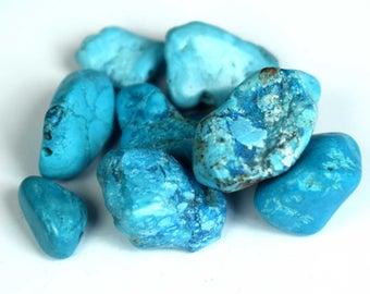 78.75 Ct. Natural Arizona Mine Kingman Turquoise Gemstone Drilled Rough Lot  Fresh Arrival