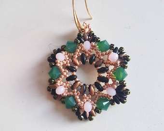 Hexagonal-shaped earrings KIT
