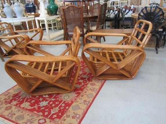 6 Band Paul Frankel Pretzel Chairs
