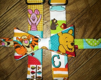 Winnie the Pooh/Disney World/Disney Cruise outfit/ pooh/tiger/piglet Boys Bow Tie and Suspender set for newborns, toddlers/birthday