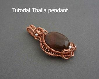 Wire wrap tutorial, Thalia pendant  - Instant download, learn to wire wrap, pendant tutorial, wire wrapping tutorial, wire jewelry tutorial