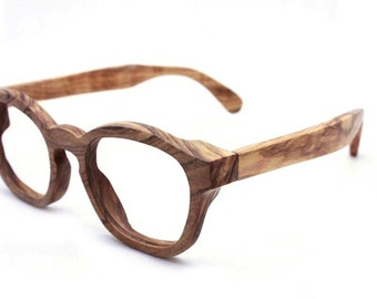 COVER-M  olive wood wooden glasses frames eyewear handmade TAKEMOTO  prescription RX glasses