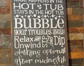 HOT TUB RULES Sign/Housewarming/Hostess Gift/Christmas Gift