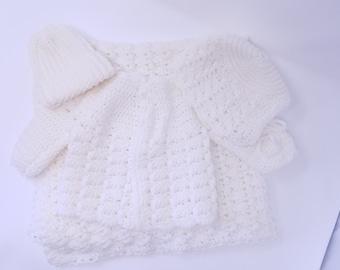 Handmade Crocheted Baby Layette
