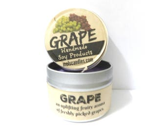 Grape 4 ounce soy candle tin - take it anywhere! Wondeful Fruit Candle