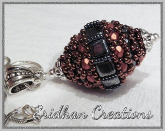 "Beaded bead ""Wasp Nest"" - tutorial"