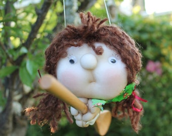 Petra the Kitchenwitch, folklore. Good luck doll for your kitchen & home!