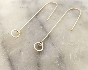 Gold earrings, Dangle earrings, Boho earrings, Minimalist earrings, Delicate earrings, Bridesmaid jewelry, Long earrings, Dainty earrings