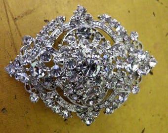Brilliant Rhinestone Bridal Brooch, Pin
