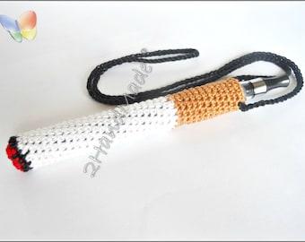 Crochet Ego Ecig Electronic Cigarette Vaporizer Holder Lanyard Tube Belt Case Lava Provari Vaping Necklace Cotton funny cigarette