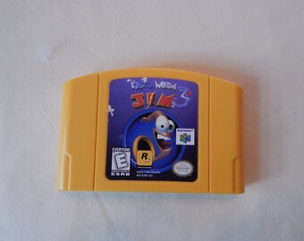 Nintendo 64 Game Pack Earthworm Jim 3D Cartridge