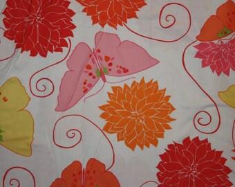 Valori Wells Della Flannel  Tango  in blossom  1/2 yard