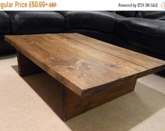 SALE Upcycled Coffee Table, Rustic Chunky,Handmade,Solid Wood,Repurposed