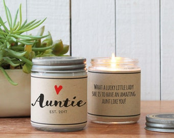 Auntie Candle Gift - New Aunt Gift | Sister Gift | Auntie Gift | Send a Gift | Best Friend Gift | Personalized Aunt Gift | Personalized Gift