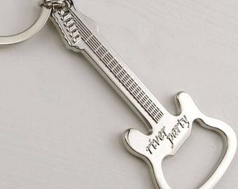 One Guitar Beer Bottle Opener and keychain    Free Shipping