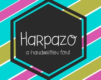 Digital Font Download- Harpazo Sans, Handwritten Font, Open Type OTF, Commercial Use Desktop License, Typeface, Installable
