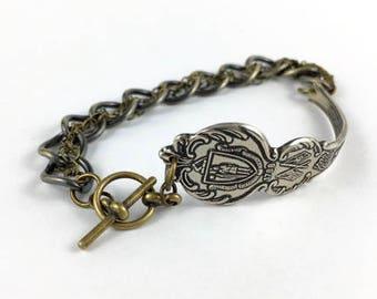 Massachusetts Bracelet, Massachusetts Jewelry, Spoon Bracelet, Spoon Jewelry, Massachusetts seal, Massachusetts Gift, Wife Gift