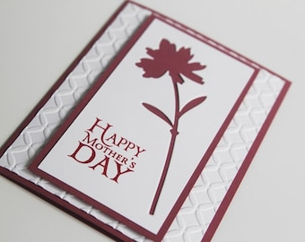 Happy Mother's Day Flower Hand Made Card, For Mom Note Card, Grandmother Greeting Card, Mothers Day Card