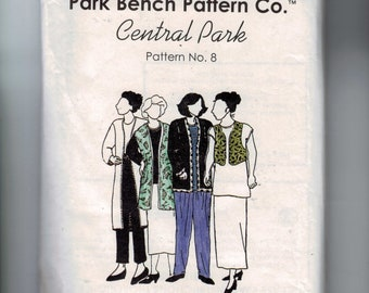 Misses Sewing Pattern Park Bench Pattern Company Central Park Pattern No 8 One Size Bust 40 UNCUT