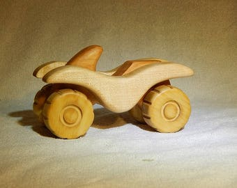 Wood atv toys vehicles wooden push toy waldorf eco friendly toy organic toy handmade toy for baby