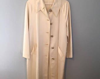 Vintage Silk Car Coat